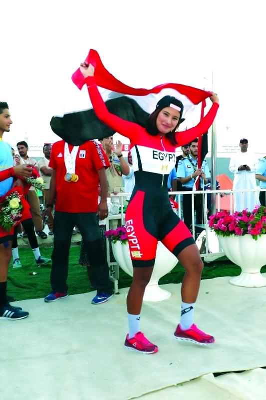 ■ المصرية ابتسام قادت مصر لصدارة البطولة