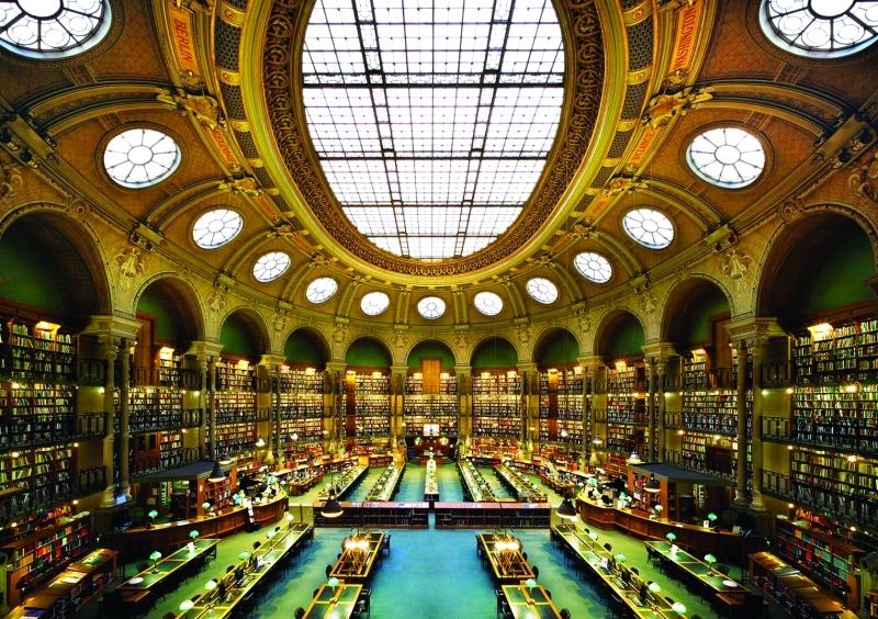الصورة : ■  المكتبة الوطنية الفرنسية فريدة من نوعها عالمياً     البيان