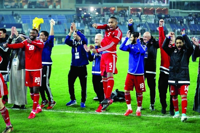 الصورة : مباراة منتخب الامارات و منتخب العراق  في خليجي 23 بالكويت ، يناير  02 2018 تصوير سالم خميس