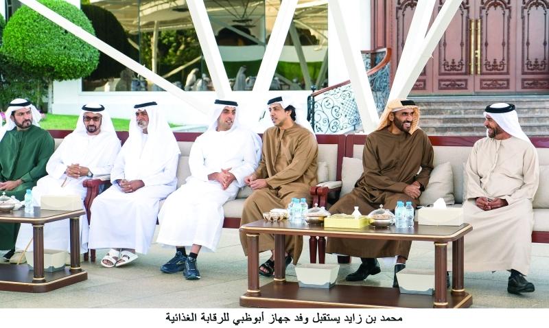 الصورة : سرور بن محمد ونهيان ومنصور وخالد بن زايد ونهيان وحمدان بن مبارك وحمد الخييلي
