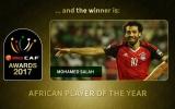 الصورة: محمد صلاح يتوج بجائزة أفضل لاعب في أفريقيا 2017