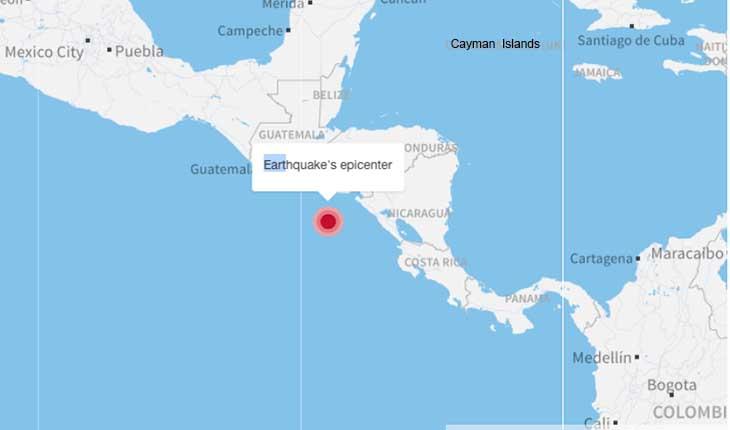 زلزال بقوة 7.6 درجة يضرب قبالة أميركا الوسطى