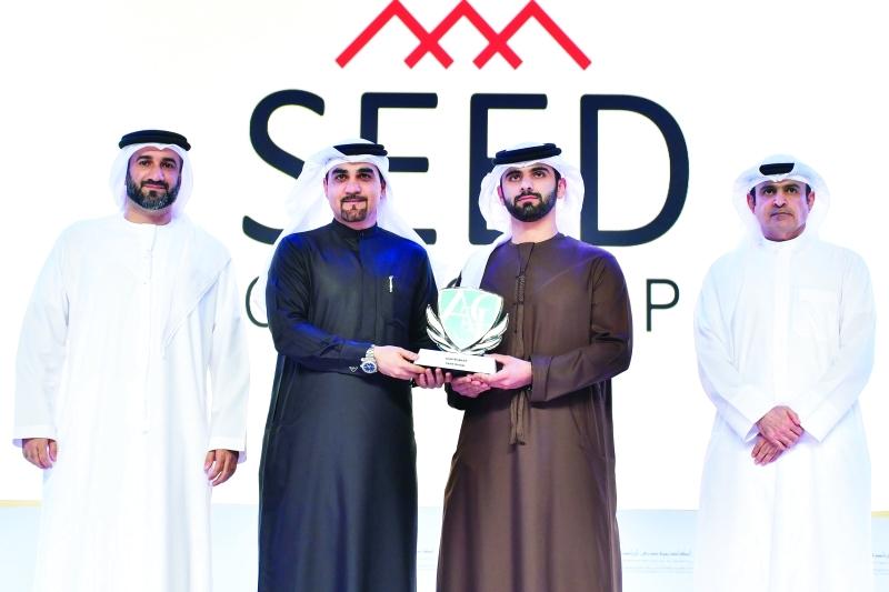 الصورة : سموه خلال تكريم شركاء أكاديمية دبي لريادة الأعمال والخريجين