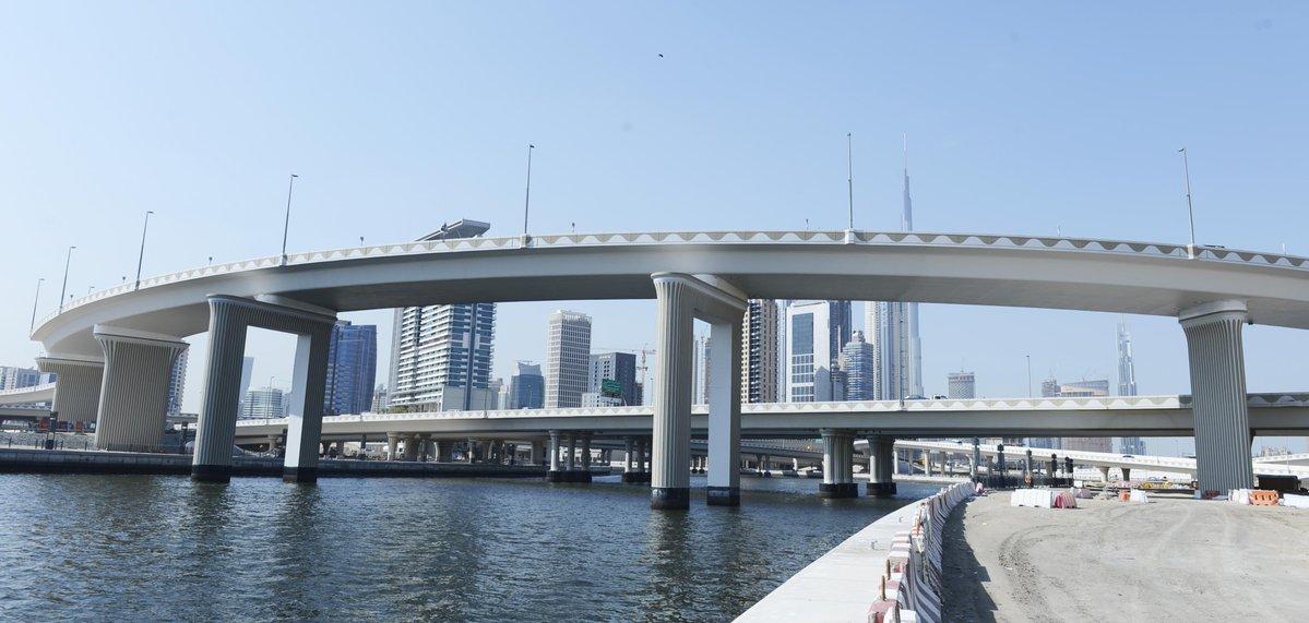 «طرق دبي» تفتتح الجمعة الجسر المؤدي من شارع الخيل لشارع المركز المالي