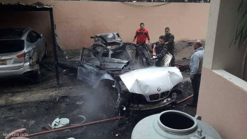 انفجار سيارة مفخخة في صيدا جنوبي لبنان