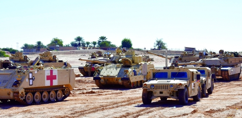 الصورة : التمرين يساهم في تطوير مهارات منتسبي القوات البرية