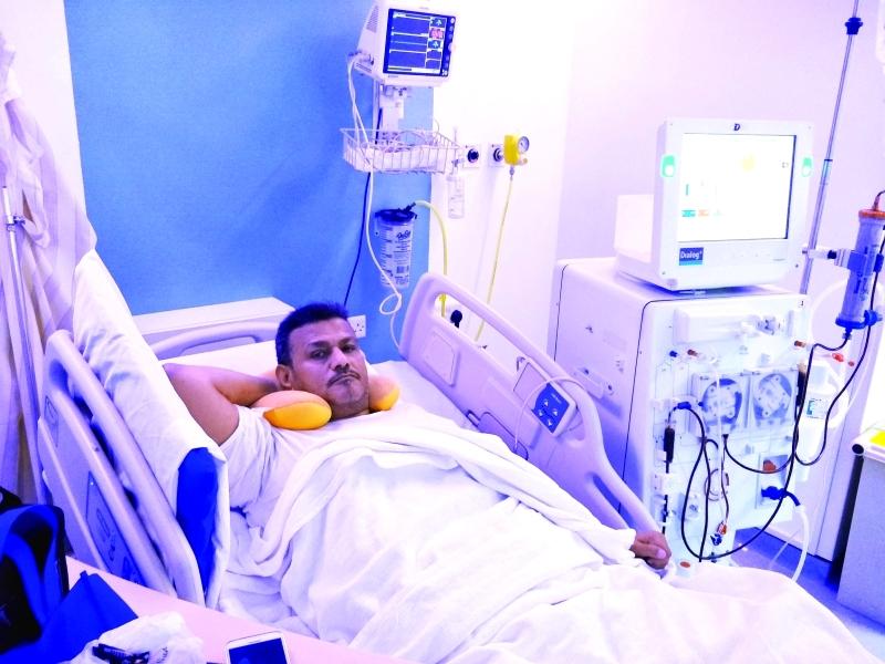 الصورة : أحمد الغزالي على سرير الشفاء