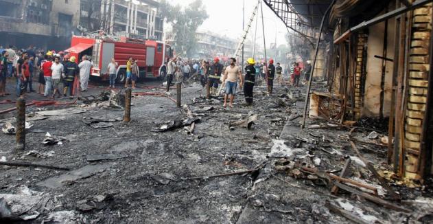 مقتل 26 وإصابة 65 شخصاً في تفجير مزدوج وسط بغداد