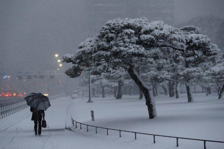 فوضى مرورية بسبب تساقط كثيف للثلوج في اليابان