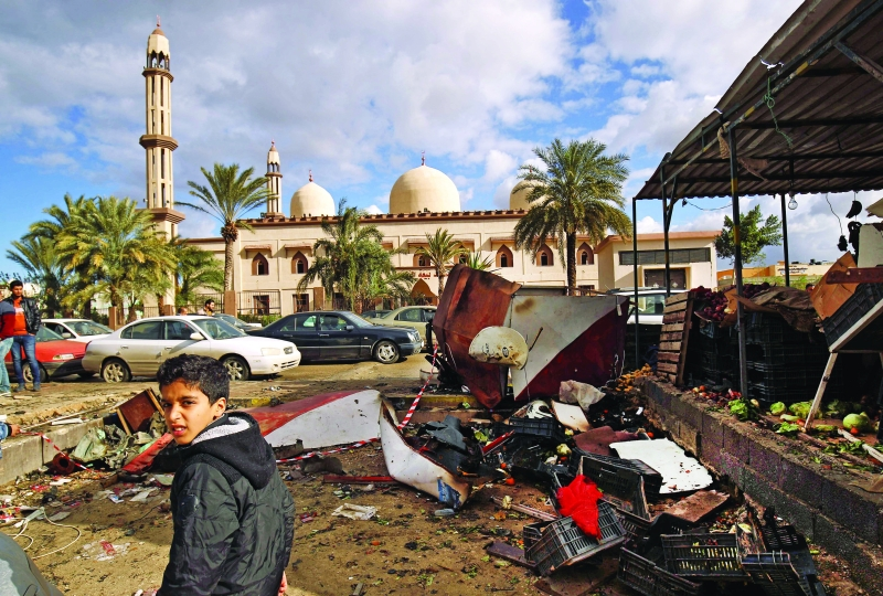 41 قتيلاً بتفجيرين انتحاريين في بنغازي