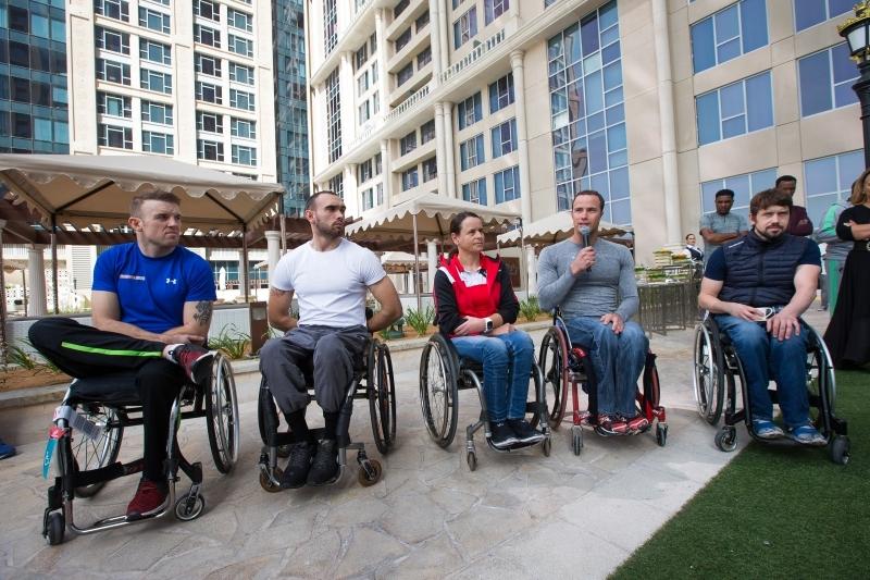 سباق الكراسي المتحركة لأصحاب الهمم لأول مرة في الماراثون
