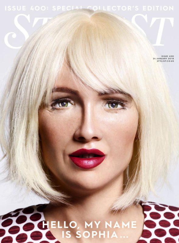 الروبوت «صوفيا» تتزين وتظهر على غلاف مجلة عالمية