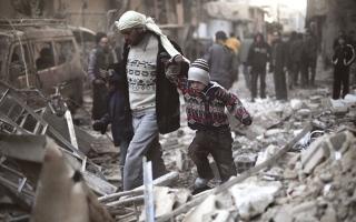 الصورة: الغوطة.. جحيم فوق الأرض