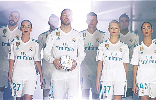 """""""الإمارات"""" تبث فيلماً قصيراً للاعبين في ريال مدريد"""