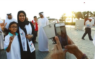 الصورة: في الإمارات «نمشي معاً».. بقلب واحد!