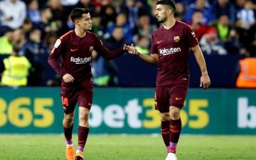 الصورة: برشلونة يعبر مالاجا ويعزز صدارته للدوري الإسباني