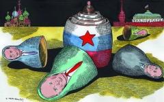 الصورة: طيف بوتين يحتل صدارة الأحداث في روسيا