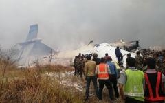 الصورة: تحطم طائرة بنغالية في مطار تريبوفان الدولي في نيبال