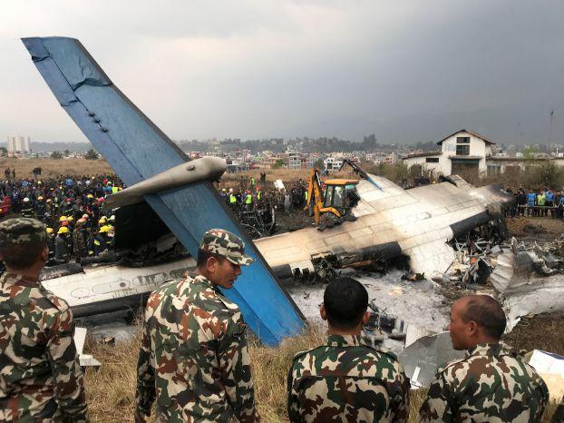 مقتل 40 شخصاً وجرح 23 في تحطم الطائرة في كاتماندو