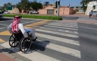 الصورة: الصورة: إماراتية تخترع كرسياً متحركاً يعمل برمشة عين