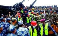 الصورة: 50 قتيلاً بتحطم طائرة ركاب بنغالية في نيبال