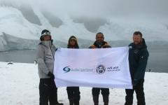 الصورة: «فريق زايد» يضيء ليل القطب  الجنوبي بالأمل