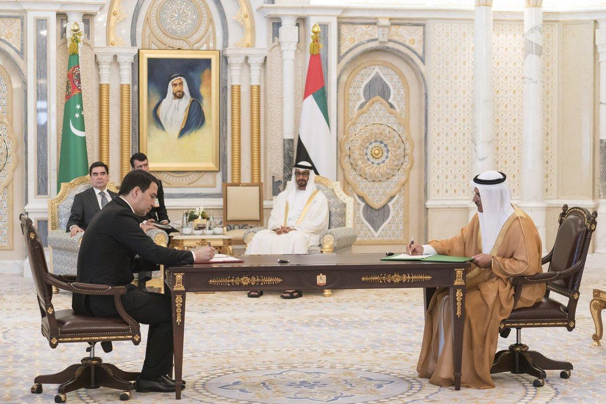 الإمارات وتركمانستان تبرمان اتفاقات ومذكرات تفاهم لتعزيز الشراكات الثنائية