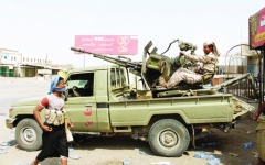 الصورة: قوات التحالف تدمّر صاروخاً بالستياً فوق المخا