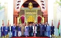 الصورة: وفد دبلوماسي يزور فعالية «المغرب في أبوظبي»