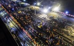 الصورة: إنجاز بناء محطة سكة حديد صينية في 9 ساعات