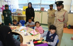 الصورة: أمن المواصلات في شرطة دبي تحتفي مع أصحاب الهمم
