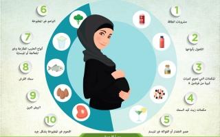 الصورة: 10 أغذية يجب على الحامل تجنبها للحفاظ على صحة الجنين