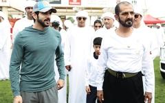 الصورة: محمد بن راشد يشهد إنجاز «M7» بلقب كأس ولي عهد دبي للقدرة في سيح السلم