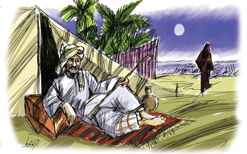 الصورة: الْمِظْلِمْ الضَّاوِيْ..!