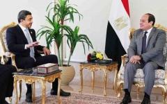 الصورة: الرئيس المصري يستقبل عبدالله بن زايد