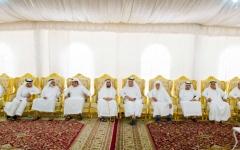 الصورة: حاكم رأس الخيمة يقدم واجب العزاء إلى أسرة بو الحمام النعيمي
