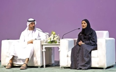 الصورة: سارة الأميري: حضور الإمارات في «الرياض للكتاب» يسرد قصة علاقة وثيقة بين البلدين