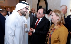 الصورة: محمد خليفة المبارك يحضر الأيام السياحية التونسية