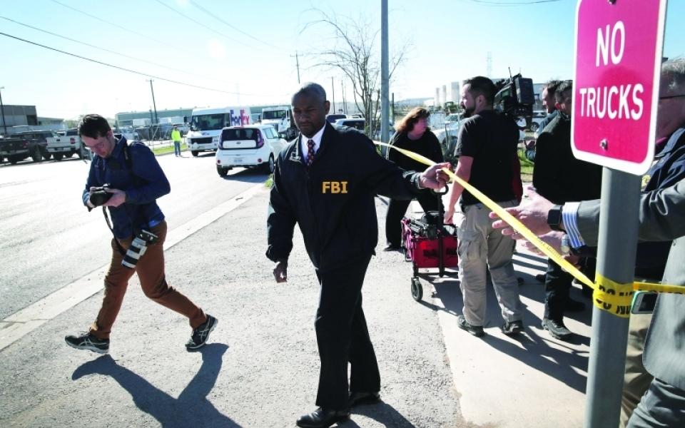 الصورة: انفجار طرد مفخخ جديد في تكساس