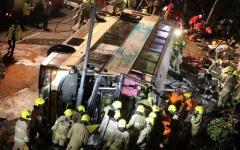 الصورة: 19 قتيلا على الأقل في سقوط حافلة من على جسر في الفلبين