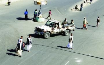 الصورة: الميليشيا تعتدي على تظاهرة نسائية في صنعاء