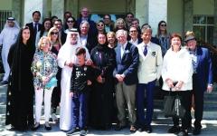 الصورة: نهيان بن مبارك يستقبل وفد أصدقاء اللوفر
