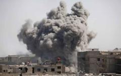 الصورة: مقتل 37  مدنياً حرقاً بأحد ملاجئ الغوطة