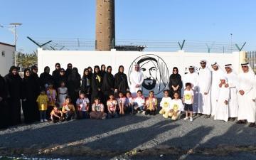 الصورة: فريق سفراء السعادة التطوعي ينظم مبادرة ( على خطى زايد ) بأم القيوين