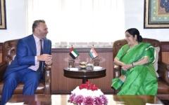 الصورة: بحث تطوير العلاقات الاستراتيجية  بين الإمارات والهند