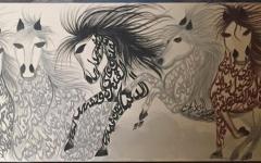 الصورة: مريم العامري.. لوحات فنية تصدح شعراً