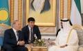الصورة: محمد بن زايد ورئيس كازاخستان يبحثان علاقات التعاون والمستجدات الإقليمية