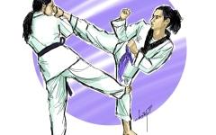 الصورة: مبادرة تدريب الفتاة الأردنية لحماية نفسها