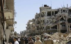 الصورة: ترحيل آخر جماعات المعارضة السورية من الغوطة