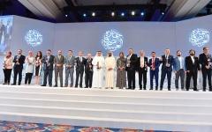 """الصورة: محمد بن راشد يكرّم الفائزين بـ """"جائزة الصحافة العربية"""" 2018"""